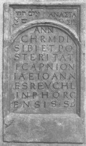 Epitaph Reuchlins in der Leonhardskirche Stuttgart